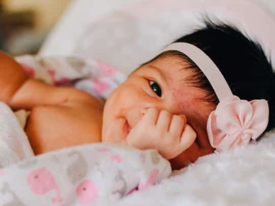 Photo of a so cute baby.