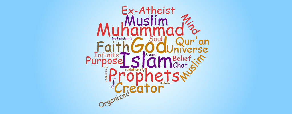 cloud of words - chat with ex-atheist