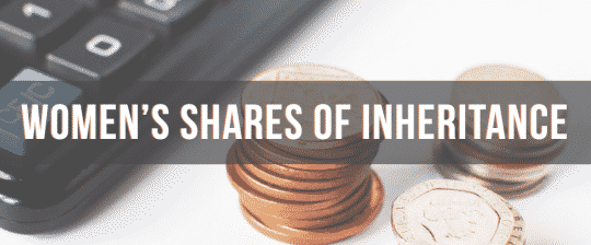 Shares of Inheritance, image of calculator & coins.