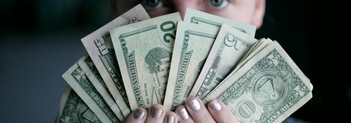 women inheritance, a person holding money