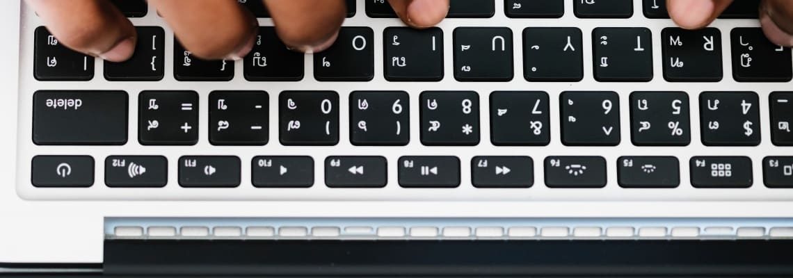 Message about belief, A man typing a message