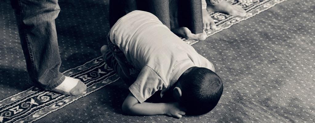 A praying kid, God is The Pardoner.