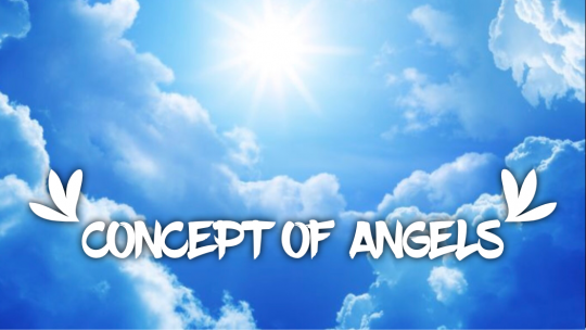 "Day light sky & clouds, with ""concept of angles"" text."