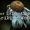 women like flowers. Does Islam allows striking women?