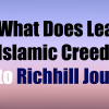 What Does Learning Islamic Creed Add to Richill Journey?